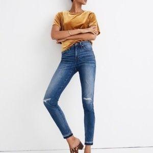 NWT Madewell 9'' High-rise Skinny Jeans York Wash